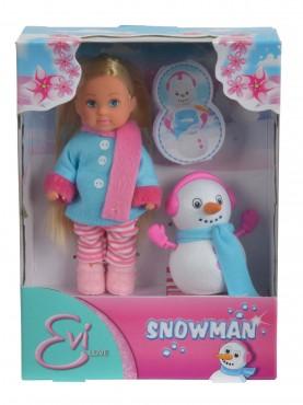 Evi Snowman / Evi mit Schneemann / 12 cm