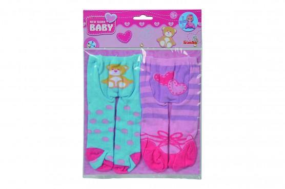 New Born Baby Strumpfhosen, / 2 Stück, für Puppen 38-43 cm