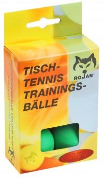 Tischtennisbälle, 6er Pack / 2-fach sortiert / farbig