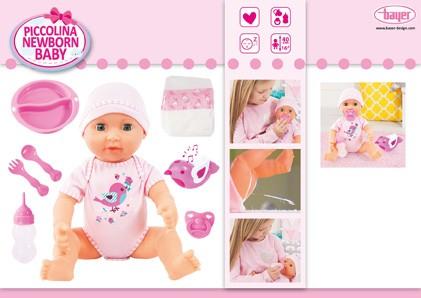 Piccolina Newborn Baby mit Vogel, / 40 cm Puppe