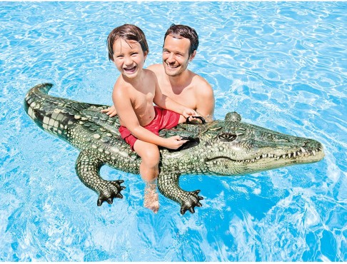 Reittier Aligator / 170 x 86 cm / Haltegriffe